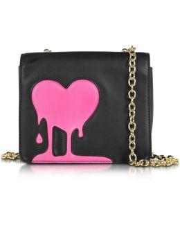 Melting Love Black & Pink Eco Leather Crossbody Bag