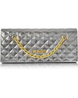 Evening Laminated Quilted Eco Leather Clutch