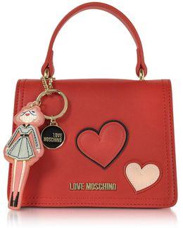 Girls & Hearts Red Mini Satchel Bag
