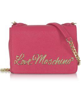 Fuchsia Eco-leather Small Crossbody Bag