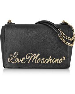 Black Eco-leather Shoulder Bag