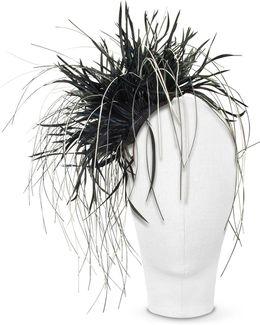Alicia - Black Feather Headdress