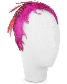 Bettina - Fuchsia Feather Headband