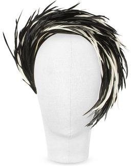 Aurora - Black And White Feather Headband