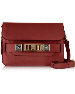 Ps11 Mini Classic Red Plum New Linosa Leather Shoulder Bag