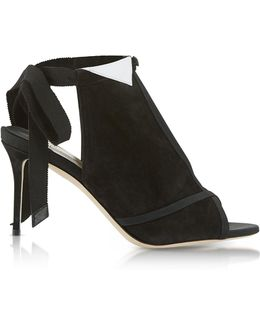 La Jolie Black Suede High Heel Pump