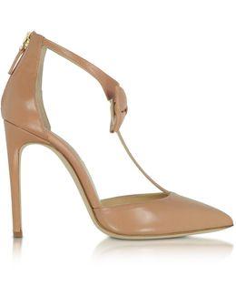 La Garconne Nude Leather High-heel Pump