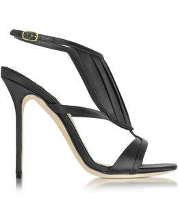 La Decouverte Black Satin Sandal