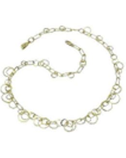 Star - 18k Yellow Gold Circles Necklace