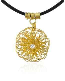 Central Diamond 18k Yellow Gold Pendant Necklace