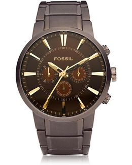 Others Brown Stainless Steel Men's Chronograph Watch