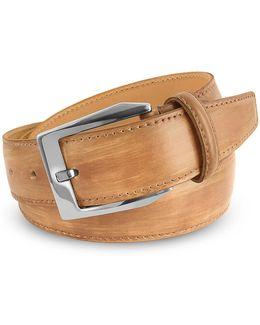 Men's Sand Hand Painted Italian Leather Belt