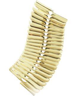 Gold Fishbone Bangle