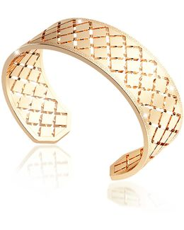 Melrose Yellow Gold Over Bronze Bangle Bracelet
