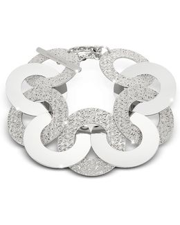 R-zero Rhodium Over Bronze And Steel Maxi Chain Bracelet