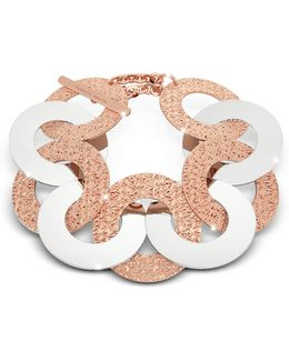 R-zero Rose Gold Over Bronze And Steel Maxi Chain Bracelet