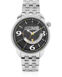 Earth -black Dial Date Watch