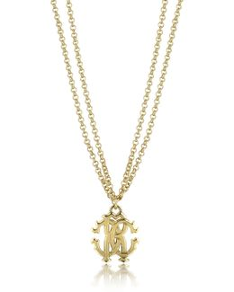 Rc Icon Metal Necklace W/double Chain
