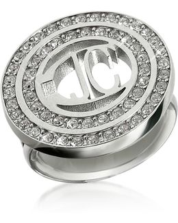 Rolly - Crystal Logo Ring