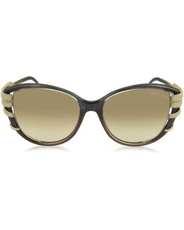 Sterope 972s Acetate And Crystals Cat Eye Women's Sunglasses