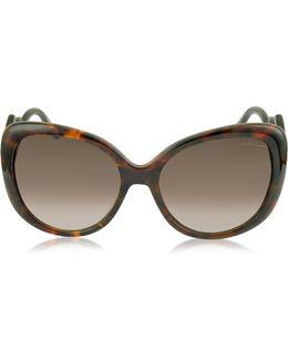Mintaka 911s 52f Havana Acetate Women's Sunglasses