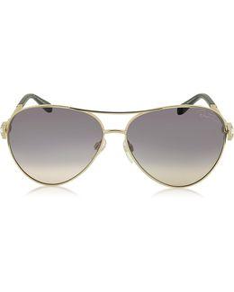 Muphrid 920s-a Metal Aviator Sunglasses W/crystals