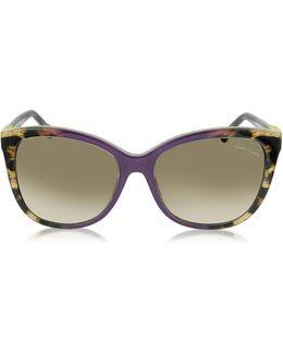 Jabbah 872s Leopard Print Acetate Cat Eye Women's Sunglasses