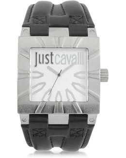 Timesquare 3h Silver Dial Black Strap Men's Watch
