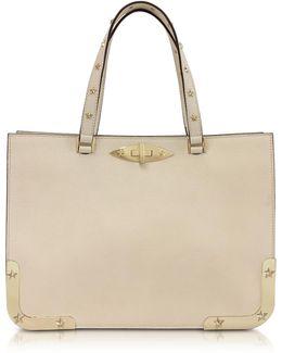 Medium Double Handle Leather Bag