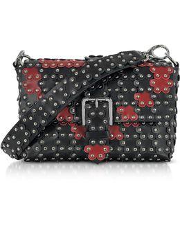 Black And Red Studded Shoulder Bag