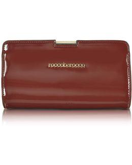 Signature Patent Eco Leather Clutch