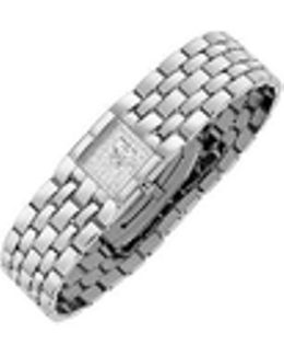 Ladies' Diamond Pave Dial Stainless Steel Watch