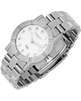 Parsifal W1 - Women's White Dial Stainless Steel Date Watch