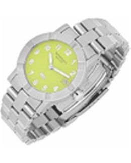 Parsifal W1 - Women's Lime Dial Stainless Steel Date Watch