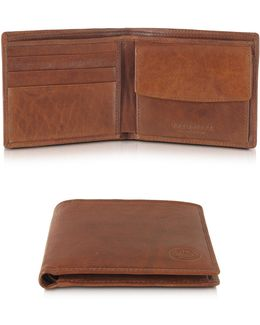 Story Uomo Leather Billfold Wallet W/coin Pocket