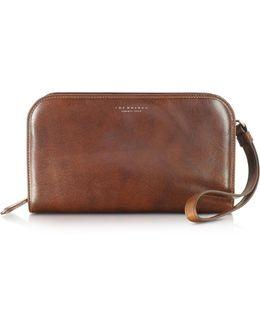 Jade Brown Leather Men's Wallet/clutch