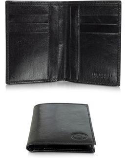 Story Uomo Dark Brown Leather Men's Vertical Wallet
