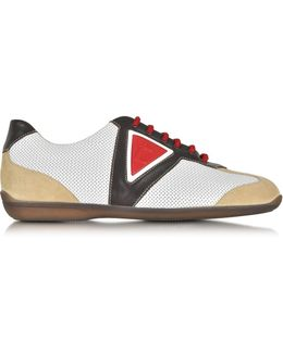 Multicolor Leather And Suede Sneaker