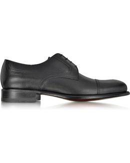 Black Leather Derby Shoe