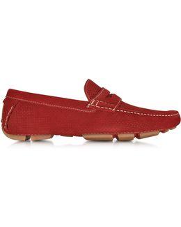 Garofano Techno Suede Moccasin Shoe