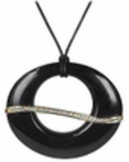 Pietrasanta - Marble & Diamonds 18k Gold Pendant