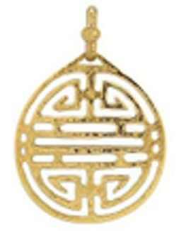 Chinese Labyrinth - 18k Yellow Gold Pendant