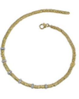 Rondelle Moving Big - 18k Yellow Gold And Diamond Necklace