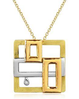 Cubisme Diamond 18k Gold Pendant Necklace