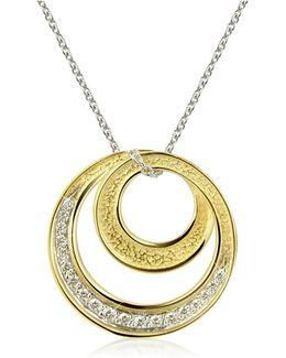 Infinity 18k Yellow Gold Diamond Pendant Necklace
