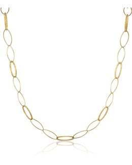 Marina - 18k Yellow Gold Oval Link Necklace