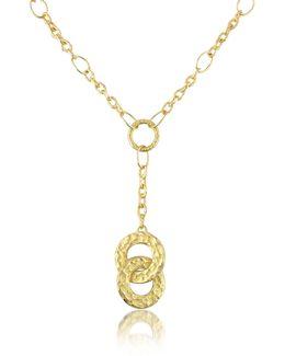 Insieme - Hammered 18k Gold Drop Necklace