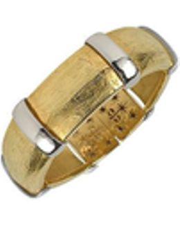 Morphos - 18k Yellow And White Gold Cuff Bracelet