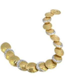 Lenticchie - 18k Gold And Diamond Bracelet