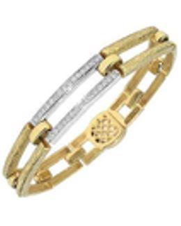 Beatrice - Gold And Diamond Rectangular Link Bracelet